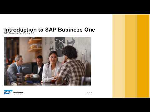 Introduction to SAP Business One 9.3