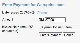 Enter payment
