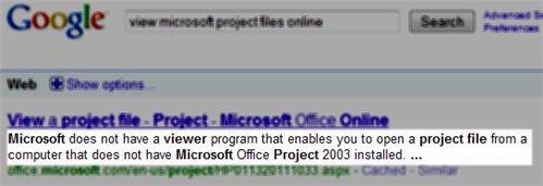 No Microsoft Project Viewer
