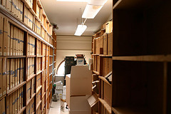 racks of documents