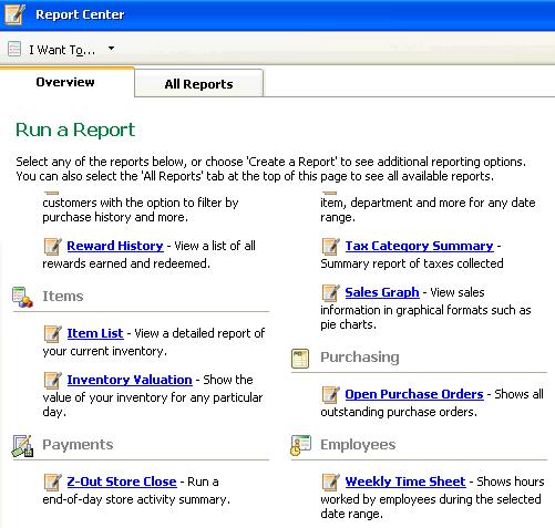 report center