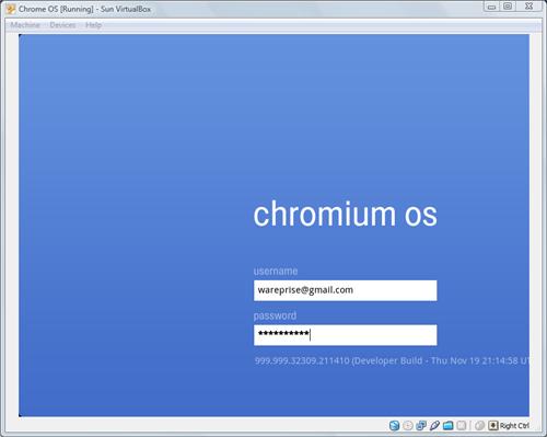 Chromium OS Login