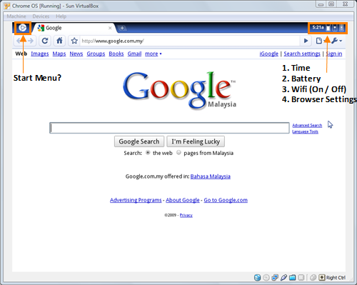 Chromium OS Upon Login