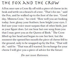 The Fox and the Crow-small