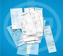 shoeboxed receipts