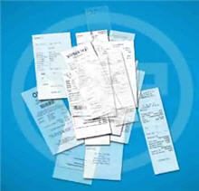 shoeboxed receipts