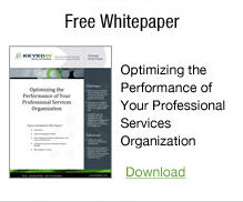 optimizing the performance of professional services organization