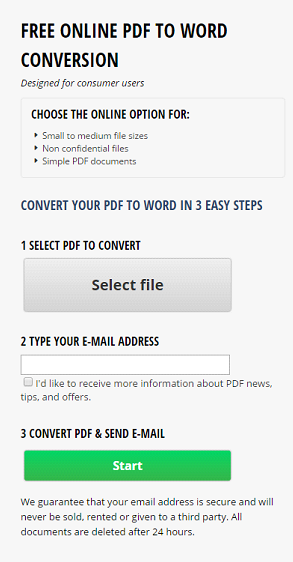 free online pdf to word conversion