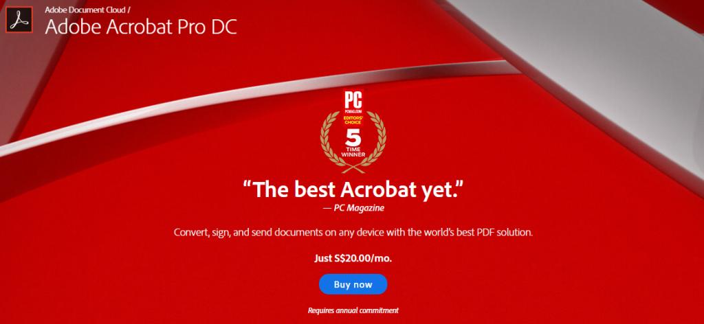 adobe pdf cost
