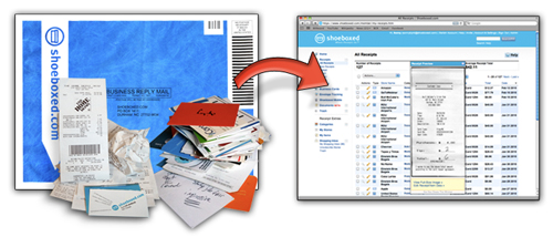 organize receipts with mail in